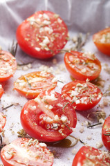 preparation of confit tomatoes
