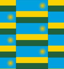 Rwanda flag texture vector