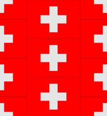 Switzerland flag texture vector