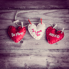 Valentines day ornaments