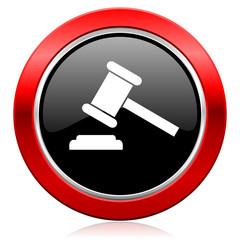 auction icon court sign verdict symbol