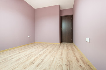 Empty purple room (includes clipping path)