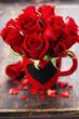 canvas print picture - Valentine composition