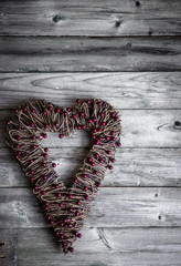 Valentines day rustic ornament