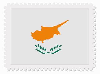 Cyprus flag stamp