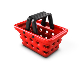 Basket supermarket on a white background.
