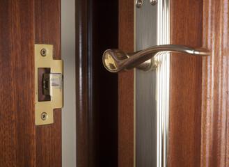 Open door detail inside home.