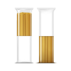 Spaghetti Pasta Packaging Template Isolated