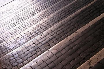Cobblestone stairs