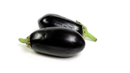 eggplants rotating on white background