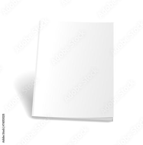 Empty magazine on white background. Perfect blank - 76013028