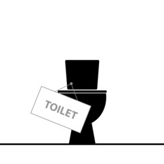 toilet black vector illustration
