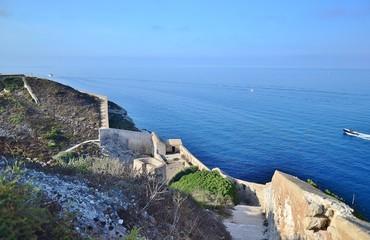 BONIFACIO : citadelle, remparts et vue sur le mer