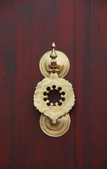 Bronze door knob with Arabian pattern