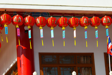 Chinese lanterns in chinese new years day
