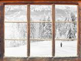 Fensterblick Winterlandschaft