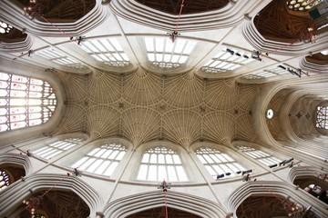 Bath Abbey, Bath, England. 17th century Fan vaulted ceiling.