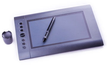drawing pen tablet isolated