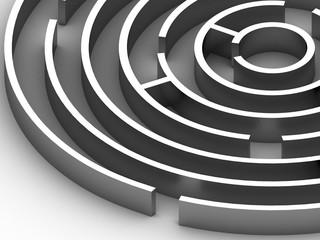 3D steel Circular maze