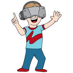 Virtual Reality Video Gamer