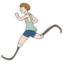 Prosthetic Legged Runner