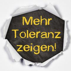 Anzeige - Mehr Toleranz zeigen!