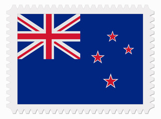 New Zealand flag stamp