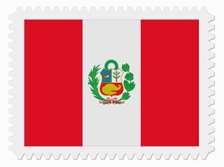Peru flag stamp