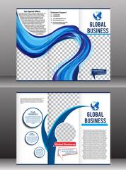 tri fold global business brochure