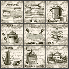 Collection cuisine vintage