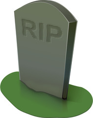 tombstone with RIP