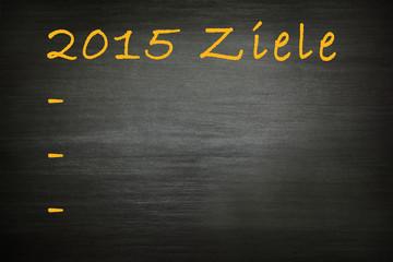2015 Ziele
