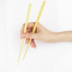 Wook sticks sushi white background