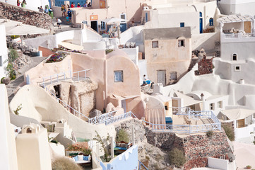Panorama view of Santorini caldera, Greece