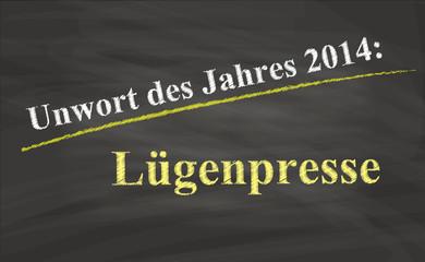 Unwort des Jahres 2014 / Lügenpresse