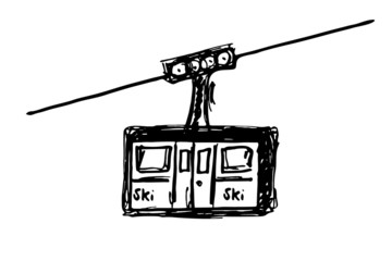 Bergbahn, Seilbahn - Gondel