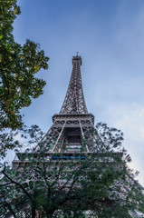 Eiffel tower park view