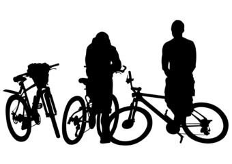 Cyclists group