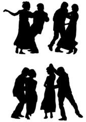 Dancer man and women