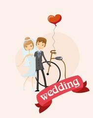 Набор свадебная фотография, жених и невеста в любви, вектор