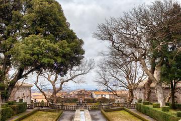 View Of Villa Lante Gardens Bagnaia Italy
