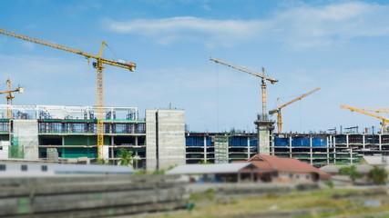 Time Lapse Big Construction Site (pan shot)
