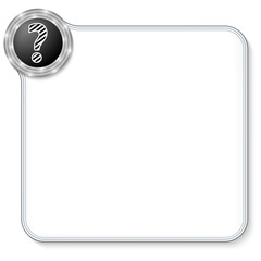 vector frame for any text and question mark
