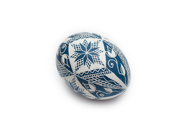 Colorful traditional Russian Ester Egg - blue