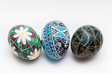 Colorful traditional Russian Ester Eggs