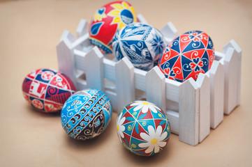 Easter eggs painting handmade