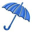 Blue umbrella icon