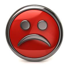 Sad red button