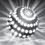 Vector glowing from the inside sphere, vector form, creative art - 76020451