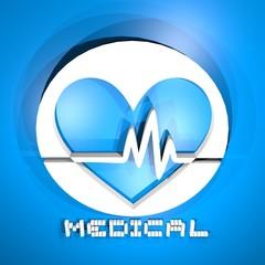 Blue medical symbol